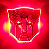 Edge Glowing LED Transformers AUTOBOTS Car Emblem - RED