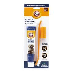 Arm-Hammer-Dog-Dental-Care-Tartar-Control-Kit-for-Dogs-Contains-Toothpaste-Toothbrush-Fingerbrush-Reduces-Plaque-Tartar-Buildup-Safe-for-Puppies-3Piece-Kit-Beef-Flavor