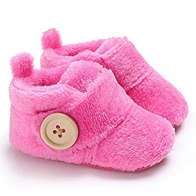 Basics21 Baby Boy & Baby Girl Cute Cartoon Fancy Winter Infant Bootie/Booties Shoes with Soft Base Born Baby/Babies (3-12 Months, Toe to Heel Length -12cm)