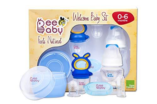 41C1IfDGTHL BeeBaby New child Welcome Child Set/Present Set. 0M+ (Blue)