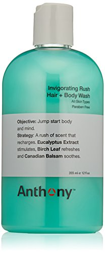 41C5V%2B4QTsL Anthony Logistics for Men Invigorating Rush Hair + Body Wash 355ml/12oz: Buy Anthony Cleansers - Jump start the body and mind.A rush of scent that recharges. Eucalyptus Extract stimulates, Birch Leaf refreshes and Canadian Balsam soothes.Details provided by Anthony Logistics for Men. Item Condition: 100% authentic, new and unused. Anthony Logistics for Men Invigorating Rush Hair + Body Wash 355ml/12oz. Occasion: Day,Night