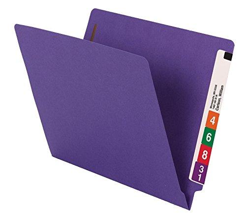 Smead WaterShed/CutLess End Tab Fastener File Folder, Reinforced Straight-Cut Tab, 2 Fasteners, Letter Size, Purple, 50 per Box (25550) deal 50% off 41C6JGpIITL