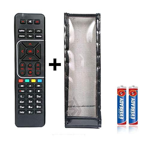 JPBROTHERS 4U, (Combo Offer) for Remote with Cover, Compatible with Airtel Digital TV DTH Remote for Works with Airtel DTH Set Top Box with PU Leather Cover Holder 176