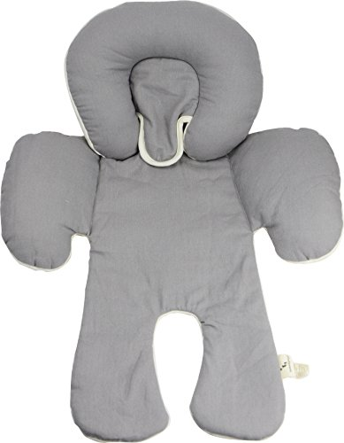 DorDor & GorGor CuddleME Infant Head Support with Organic Cotton, 2-in-1 Reversible, Gray