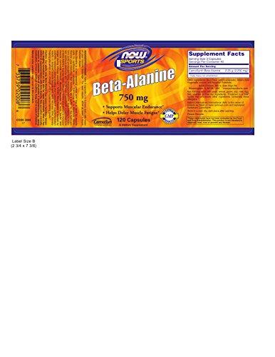 NOW Beta-Alanine 750mg, 120 Capsules