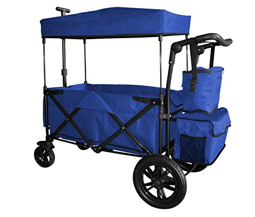 WagonBuddy Blue Folding Wagon with Canopy Review