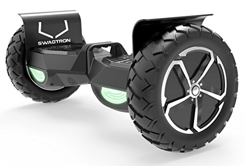 Swagtron Swagboard Outlaw T6 Off-Road Hoverboard - First in The World to Handle Over 380 LBS, Up to 12 MPH, UL2272 Certified, 10' Wheel