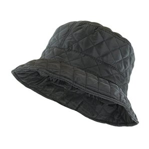067b0cf4700 ANGELA   WILLIAM Foldable Water Repellent Quilted Rain Hat w Adjustable  Drawstring