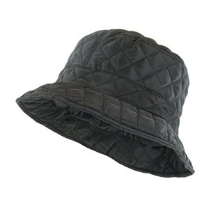e46a4074280 ANGELA   WILLIAM Foldable Water Repellent Quilted Rain Hat w Adjustable  Drawstring