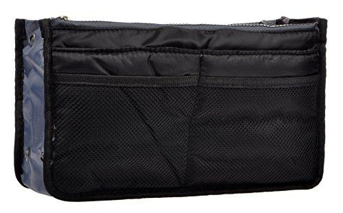 Purse Organizer,Insert Handbag Organizer Nylon Bag in Bag (13 Pockets 13 Colors) (black) M