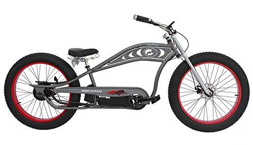 Micargi CYCLONE-MGY 48V 500W Pedal Assist Electric E-Bike Bicycle, Matte Grey