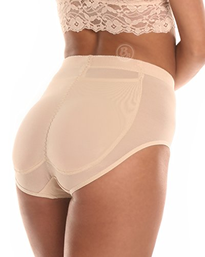 Bubbles Bodywear BB Silicone Padded Panty (XX-Large, Nude)