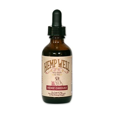 Hemp Well Hemp Omega Oil for Dogs and Cats – Supports Hip, Joint, and Heart Health, Promotes Immune Support, Strengthens Skin and Coat, Organically Sourced – 2 Ounces