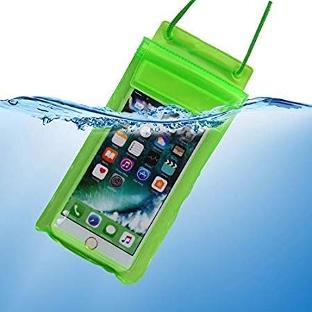 True Desire Three Layers Waterproof Sealed Transparent Mobile Bag Cover for Protection in rain & Swimming Fits for Any Android and iPhone Universal Size Mobile Phone(Green) 264