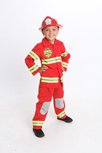 MONIKA FASHION WORLD Firefighter Costume Kids Light up with