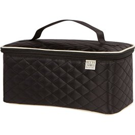 Ellis James Designs Large Travel Makeup Bag Organizer – Cosmetics Train Case Toiletry Bags for Women – Black – With…