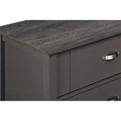 Ameriwood Home Quinn Dresser, 6 Drawer, Gray