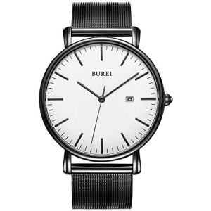 BUREI Men's Fashion Minimalist Wrist Watch Analog Date with Stainless Steel Mesh&Leather Band 16 Fashion Online Shop gifts for her gifts for him womens full figure