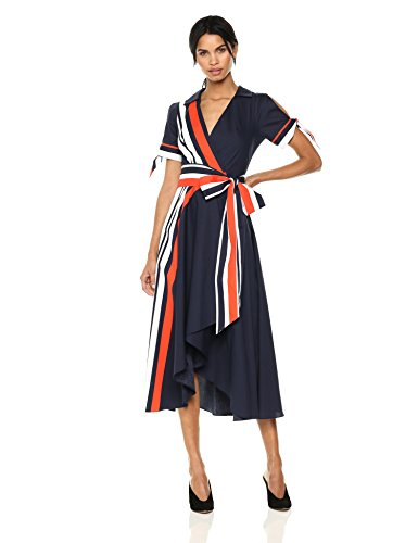 71UMPc8  iL Wrap dress with belt Short sleeve with ties