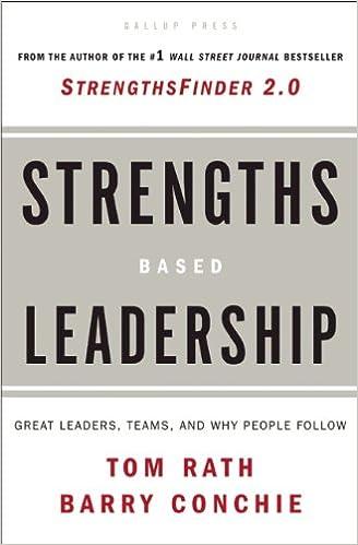 L'un des 3 livres qui ont changé ma vie : Strengths Based Leadership.