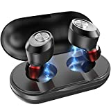 Wireless Earbuds Bluetooth Headphones Taurusus Noise Cancelling V5.0 Bluetooth Deep Bass Stereo Sound Sport Earphone with Charging Case