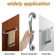 2-Pack-16-Inch-Anti-Slip-Shower-Grab-Bar-Handle-ZUEXT-Chrome-Stainless-Steel-Bathroom-Grab-Bar-Knurled-Bathroom-Balance-BarSafety-Hand-Rail-SupportHandicap-Elderly-Injury-Senior-Assist-Bath-Handle