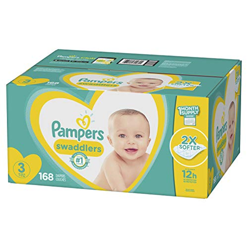 Pampers Swaddlers Diapers Size 3 168 Count