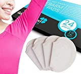 UNDER ARM SWEAT PADS. Keep Your Armpits Fresh All Day and Fight Excessive Sweating. Disposable Individually Packed Pairs Cotton Pads Safe on Every Fabric and Skin.(24pcs./12pairs Pack)