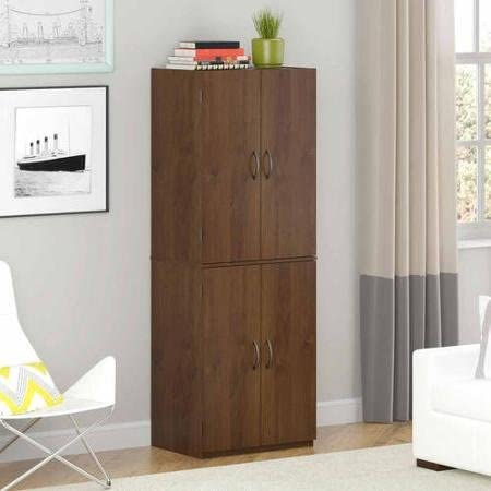 Storage Cabinet – Northfield Alder – Spacious, Ample Storage for Kitchen Accessories and Pantry Items Behind Four Doors – Ergonomic Door Handles for Easy-Grip Access – Easy Assembly (Northfield Alder)