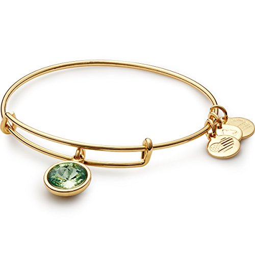 Alex and Ani 'Bangle Bar' August Birth Month Gold-Tone Expandable Bracelet