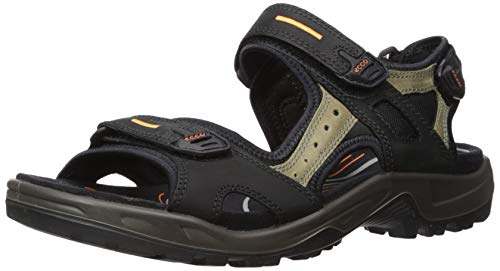 ECCO Men's Yucatan outdoor offroad hiking sandal, Black/Mole/Black, 44 EU (US...
