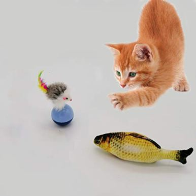 LKEX-24PCS-Cat-Toys-Interactive-Kitten-Toys-Assortments-Cat-Feather-Teaser-2-Way-Tunnel-Catnip-FishCat-SpringsFunny-Wand-Toy-Fluffy-Mouse-Crinkle-Balls-for-Cat-Puppy-Kitty-Kitten