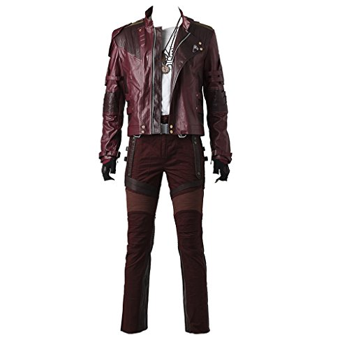 CosplayDiy Men's Suit for Guardians of The Galaxy II Star-Lord Cosplay Costume XL