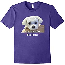 Maltese Dogs Lover T-Shirt Thanksgiving Love Gifts
