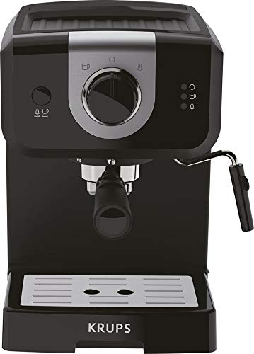 KRUPS XP3208 15-BAR Pump Espresso and Cappuccino Coffee Maker, 1.5-Liter, Black