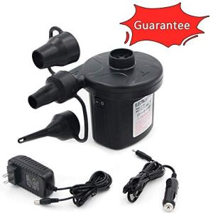 Electric Air Pump Portable Qucick-Fill Air Pump with 3 Nozzles 110v AC/12VDC Lightweight Inflatable and Deflator for… 41DFxNw1MIL