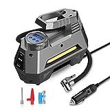 JOYROOM Portable Air Compressor Tire Inflator - Car Tire Pump with Digital Pressure Gauge (150 PSI 12V DC), Bright Emergency Flashlight - for Auto, Trucks, Bicycles, Balls