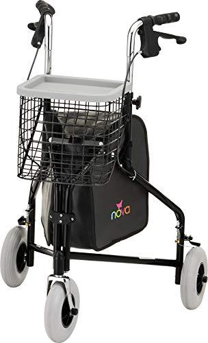 NOVA Traveler 3-Wheeled Rollator Walker,...