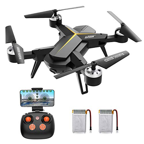 Drone with 1080P HD Camera for Kids and Adults, WiFi FPV RC Quadcopter with Headless Mode, Altitude Hold, One Key Take Off & Landing, 2.4Ghz 6-Axis Gyro Beginners Drone, 14 Mins Long Flight Time