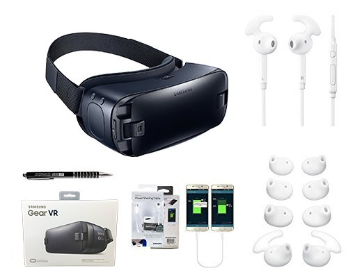 Samsung Gear VR Virtual Reality - 360 3D W/ Active Headset & Ear Gel/ Stylus/Sharing Cable - For Galaxy S6/S6Edge/+/Note 5/S7/S7Edge - (Retail Packing Kit) - US Warranty