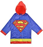 DC Comics Boys Superman Hooded Rain Slicker Jacket Coat Raincoat 2-7 (4)
