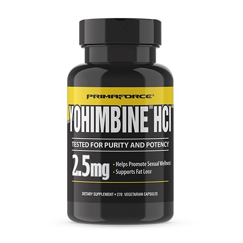 PrimaForce Yohimbine HCl, 270 Count 2.5mg Capsules - Weight Loss Supplement – Supports Fat Loss, Boosts Metabolism