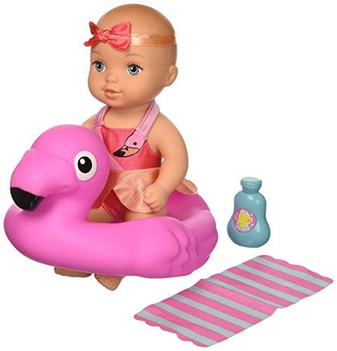 Waterbabies Bathtime Fun Flamingo CA Doll, Multicolor