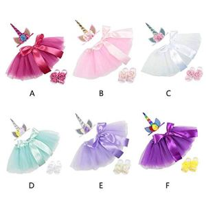 Baby Cake Tutu Skirt, 0-12 Months Newborn Baby Girls Princess Tulle Tutu Skirt with Headband Foot Cover Infant Toddler Kids 3pcs/Set Costume Set for Photo Shoot 41DXlKfBBcL