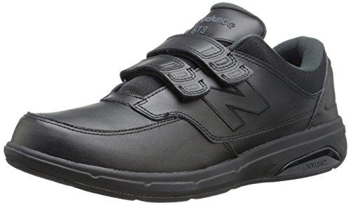 New Balance Men's MW813V1 Hook and Loop Walking Shoe, White, 11.5 2E US