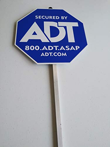 Security ADT Yard Signs 10' x 10' with Aluminum Post 36'.
