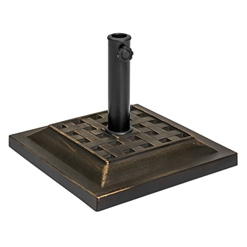 Outdoor Patio Heavy Duty Steel Square Umbrella Base Stand