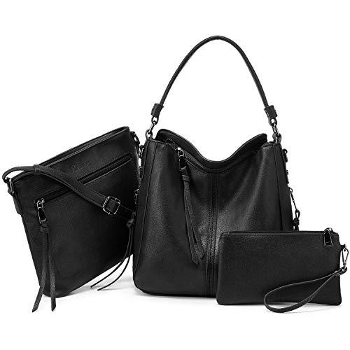 Hobo Handbags for Women Large Shoulder Bag Ladies Crossbody Bag 3pcs Purse Set