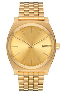 NIXON Time Teller A079 - All Gold/Gold - 134M Water Resistant Men's Analog Fashion Watch (37mm Watch Face, 19.5mm-18mm Stainless Steel Band)