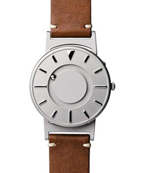 Eone Bradley Classic Silver Watch Chestnut Leather Band